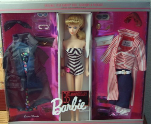 Barbie 35th Anniversary Giftset 1959 Doll, Fashions and Package Reproduction (Vintage Barbie Dolls For Sale)