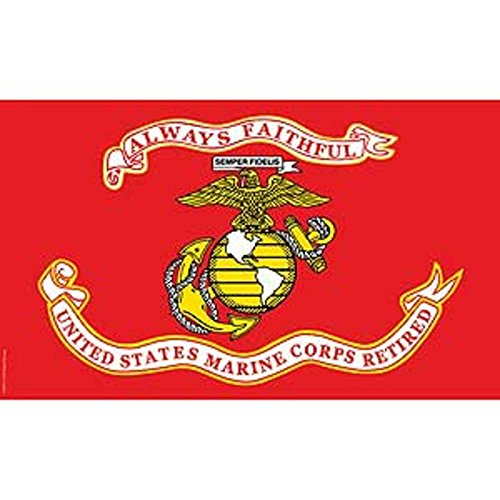 Cheap FindingKing United States Marine Corps Retired Flag with Grommets 3ft x 5ft