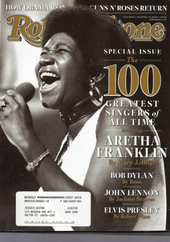 Rolling Stone: Special Issue - The 100 Greatest Singers of All Time (Aretha Franklin Cover) Issue 1066 November 27, 2008