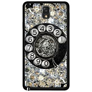 Antique Diamond Dial up Phone Hard Snap on Phone Case (Note 3 III)