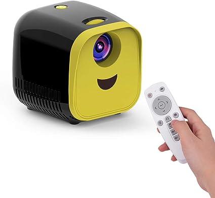 Opinión sobre Aibecy Mini LED Video Proyector para niños Inicio FamilyTheater Proyector de películas 480 * 320 Resolución nativa 50000 horas con control remoto para computadora portátil PC TV Regalo