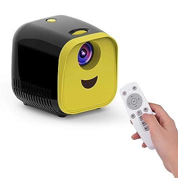 Aibecy Mini LED Video Proyector para niños Inicio FamilyTheater Proyector de películas 480 * 320 Resolución nativa 50000 horas con control remoto para ...