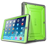 iPad Air Case - SUPCASE Heavy Duty Beetle Defense Series Full-Body Rugged Hybrid Protective Case Cover with Built-in Screen Protector for Apple iPad Air (Green Gray - not fit iPad Air 2)