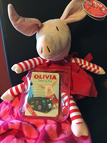 Zoobies Storytime Pals - Olivia Plush Toy, Soft Pillow, and Cozy Blanket (with Olivia Takes a Trip Book) (Soft Toy Zoobies Plush)