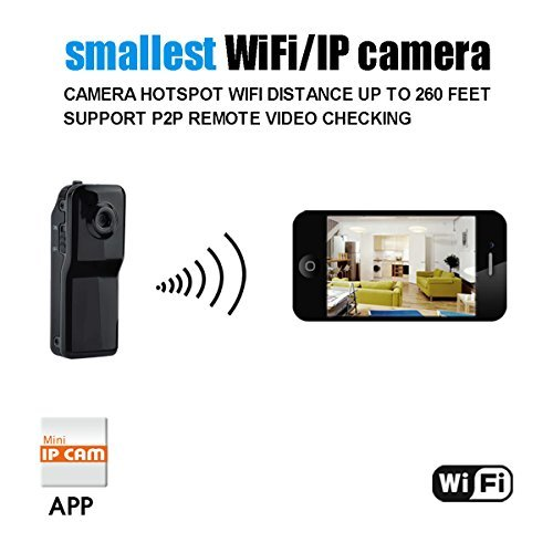 Conbrov Wf81 Mini Portable Wireless IP Covert Security Camera Motion Detection Video Camcorder Data Recorder Cam for cannect Smartphone Use