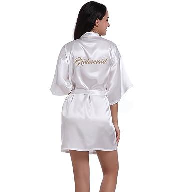 BOYANN Damas de Honor Ropa de Dormir Erótica para Mujer Sexy Batas y Kimonos de Satén: Amazon.es: Ropa y accesorios