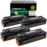 LINKYO Compatible Toner Cartridge Replacement for HP 410X 410A CF410X CF411X CF412X CF413X (Black, Cyan, Magenta, Yellow, 4-Pack)