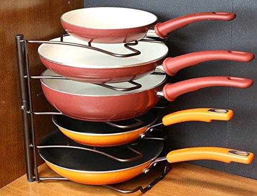Organizador de sartenes de 5 niveles Taylor & Brown® para colocar en la encimera o armario de cocina y ahorrar espacio de almacenamiento: Amazon.es: Hogar