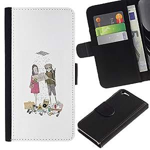 iKiki Tech / Cartera Funda Carcasa - Sweet Love Boyfriend Rain - Apple iPhone 6