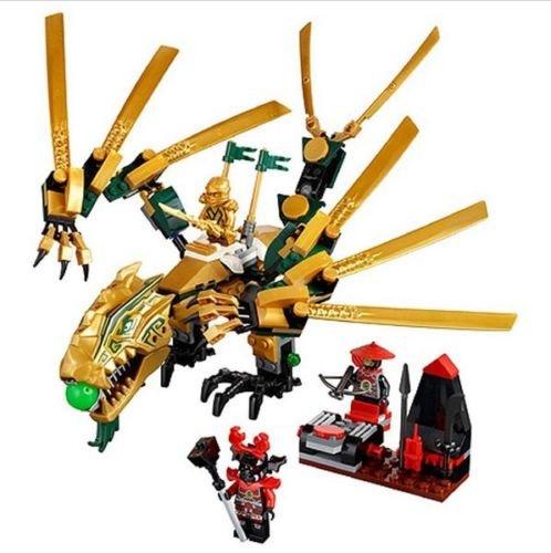 [gonggamtop Ninjago The Golden Dragon Building Blocks 258pcs Educational Toys Brick] (Diy Toothless Dragon Costume)