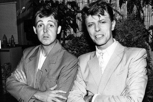 David Bowie & Paul Mccartney 24X36 Poster - Mccartney Poster Paul