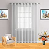 Infinite Home Beauty One Extra-Wide Panel of Sheer Window Curtains with Grommet Top (Silver, 1 Extra-Wide Panel: 102″ x 84″) Review