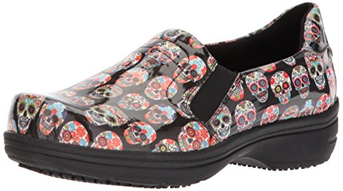 Easy Works Women's Bind Health Care Professional Shoe, Skull Patent, 8.5 W US