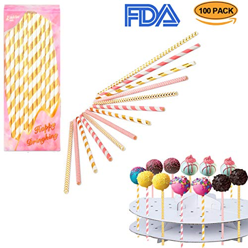 528d1f9ab5c Cake pop sticks Lollipop treat sticks Colorful Lollipop Sticks 100 Pcs  Straws Colorful Cake Pops Making Tools for Cake Pop DIY Homemade Fruit  Candy ...