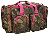Cheap NPUSA Womens Large Outdoor 30 Inch Pink Camo Duffel Duffle Gear Sport Gym Shoulder Bag with Key Ring Carabiner