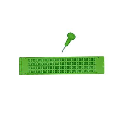 4 Renglones 28 Caracteres Pizarras para Braille Con 2 Punzon ...
