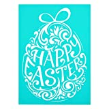 YeulionCraft Self-Adhesive Silk Screen Stencils Mesh Transfers Reusable Sign Stencils DIY Festival Painting on Wood Home Decor, Easter Eggs: more info