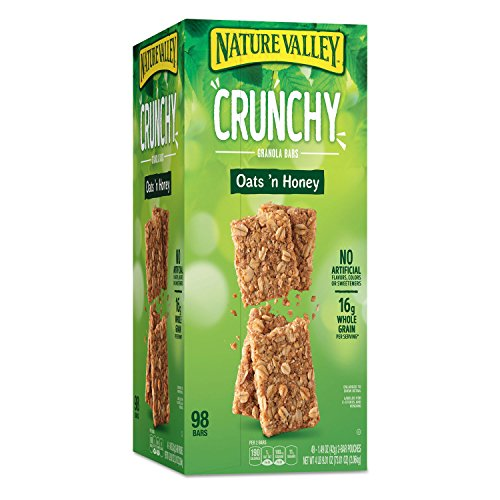 Nature Valley 827622 Granola Bars, Oats & Honey, 1.5 oz Bar, 49/Carton -