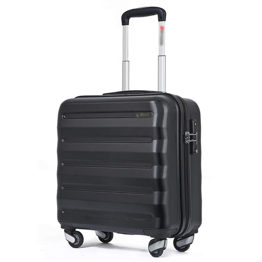 LIYONG トロリーケース 男女兼用 牽引バッグ 大容量 トレンド 学生 スーツケース(16インチ) 16 inches ブラック 1541 B07QPDL9B3 ブラック 16 inches