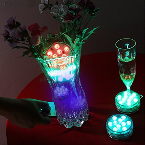 2Pack Submersible LED lights Remote Controlled Wireless Muti Color Waterproof Flashing Light-Halloween For Wedding Party Pond Swimming Pool Fish Tank Decoration