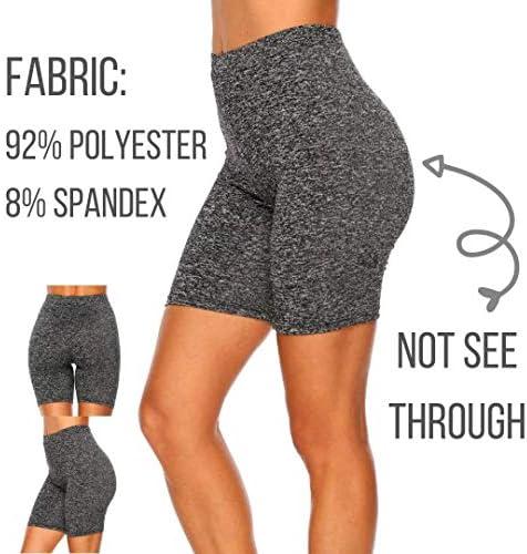 Dynec - Pantalones cortos de ciclismo para mujer, 2 unidades, color negro y gris, para descansar, ejercicio, yoga, moda 5