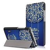 MediaPad T3 7.0 Case , Heavy Duty Hard Kid Proof Cover PU 360 Rotating Case with Flip Folio Full Body Protection Ultra Slim Shell Waterproof for Huawei MediaPad T3 7.0 Tablet (Fantsy Flower)