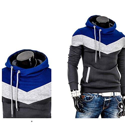 OrliverHL Men Hoodie Mixed Colors Pullover Hooded Sweatshirt