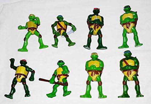 Mcdonalds 2007 Tmnt Set Of 8 Teenage Mutant Ninja Turtles Warner