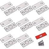 Door Magnet Jiayi 8 Pack Ultra Thin Magnetic Cabinet Door Catch Strong Drawer Magnet Door Latch Stainless Steel Hardware for Sliding Door Window Kitchen Cupboard Wardrobe Closet Door Closer
