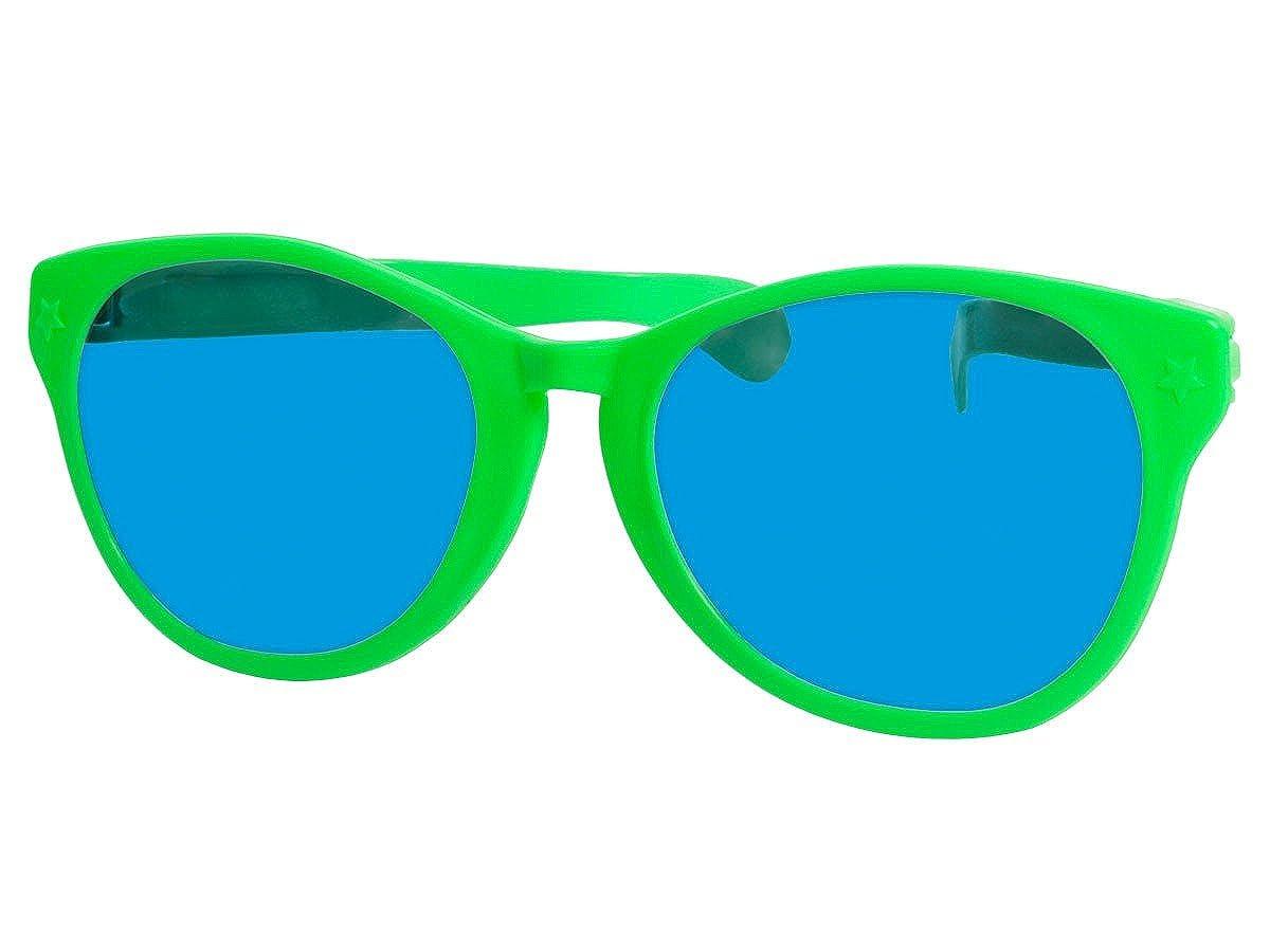 Alsino Funbrille Jumbo Partybrille Riesenbrille Spa/ßbrille Karneval Fasching Party Clown Brille F-049