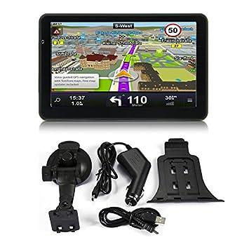 710 Navegación GPS de 7 Pulgadas para Camiones de automóviles Navegación capacitiva de 256M + 8GB Navegador FM Cámara de Inversión Reversible Posición ...