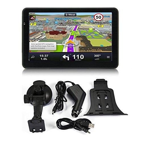 710 Navegació n GPS de 7 Pulgadas para Camiones de automó viles Navegació n capacitiva de 256M + 8GB Navegador FM Cá mara de Inversió n Reversible Posició n precisa Logicstring