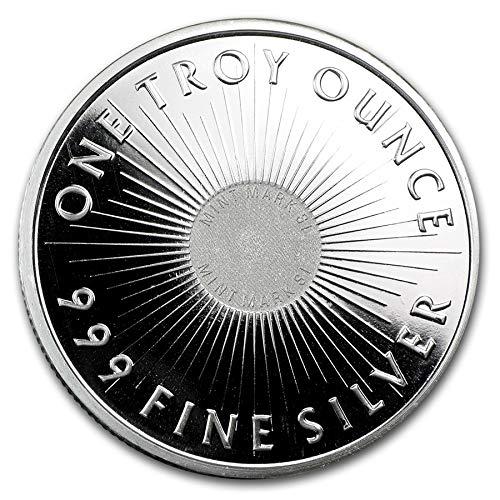 Sunshine Minting Silver Round 1 Troy Oz of .999 ()