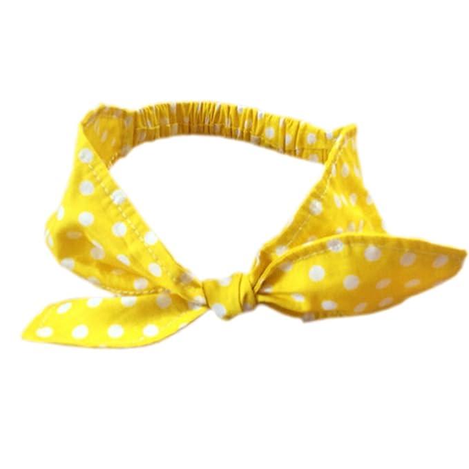 DELEY beb/és retro del lunar de conejo vendas del turbante Headwear