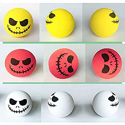 KOOBOOK 4Pcs Funny Halloween Skull Smile Car Antenna Topper Aerial Ball Car Antenna Decoration Doll: Clothing