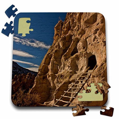 3dRose Danita Delimont - Archeology - Ancient Pueblo, Bandelier National Monument, New Mexico, USA - 10x10 Inch Puzzle (pzl_231290_2) ()