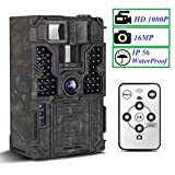 Trail Camera - PetElf 1080P 16MP Hunting Trail Game Camera Wildlife Monitoring Cam 48pcs IR LEDs...