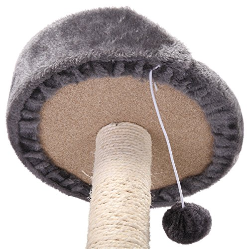 chic Cat Tree Post Scratcher Furniture Play House Pet Bed Kitten Toy Grey Mini New
