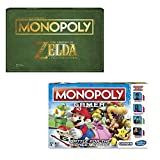 zelda monopoly board game - Monopoly Gamer Super Mario Bros and The Legend of Zelda Collector's Edition Board Game Bundle