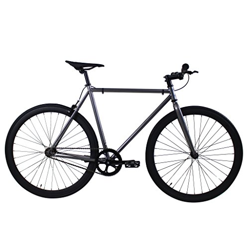 Golden Cycles Fixed Gear Single Speed Fixie Road Bike (Asphalt, 52)