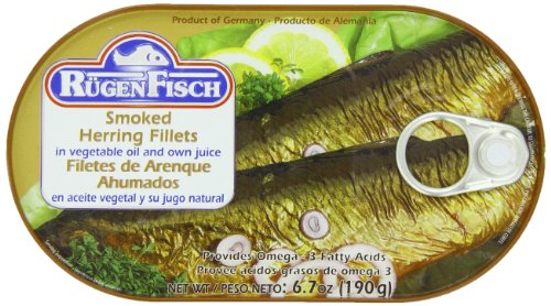 (RügenFisch Smoked Herring Fillets in Vegetable Oil, 6.7 Ounce)