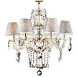 LightInTheBox 6 Lights,Decorative Crystal Chandelier In Cognac Color With Lamp Shade , Crystal & GlassHome Ceiling Light Fixture Flush Mount, Pendant Light Chandeliers Lighting,Voltage=110-120V