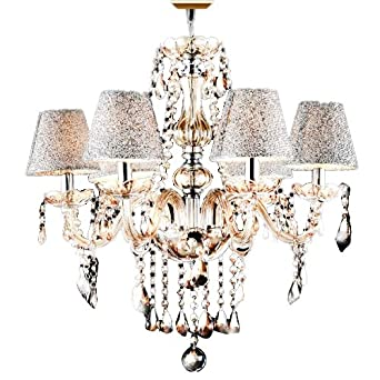 Lightinthebox  Lightsdecorative Crystal Chandelier In Cognac Color With Lamp Shade Crystal