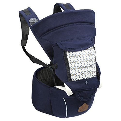 NEW Baby's Best Ergonomic Baby Carrier, Hip Seat - 100% Natural Cotton. Ergo Front Facing Infant Lumbar Back Support Lightweight ()