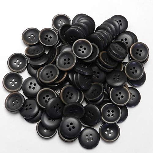 [スポンサー プロダクト]こげ茶色系ボタン 20mm 4穴 スーツ ジャケット 最適 100個入り TM74-20-DBR-211