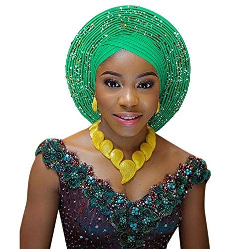 Fabric African|African headtie Fashion Head Wraps African Turban Nigerian auto gele Fashon Headwear|by KALLAR