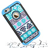 iPhone 6s Case,iPhone 6 Case,[4.7inch]by HLCT,Soft Interior Silicone Bumper&Hard Shell Solid PC Back,Shock-Absorption&Skid-proof,Anti-Scratch Hybrid Dual-Layer Cover (Blue)