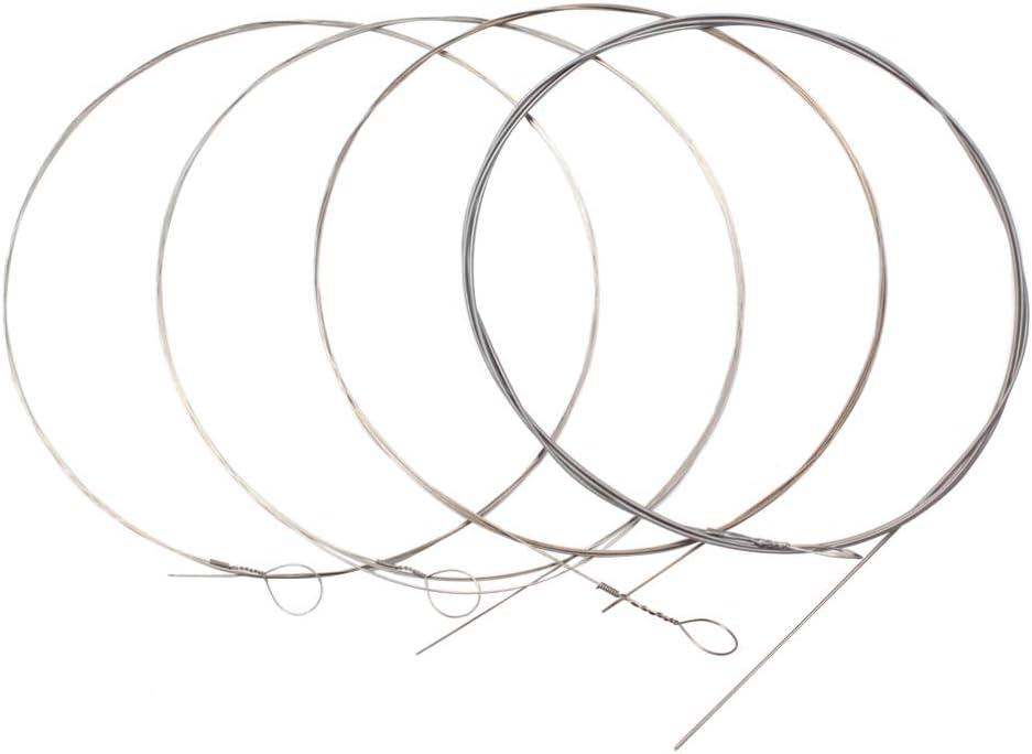 HEALLILY 4 cuerdas de acero inoxidable para guitarra eléctrica y bajo para partes de instrumentos musicales acústicos