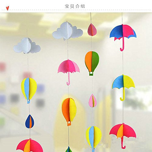 Hot Air Balloon Packages - Worldoor® 3D felt hot air balloon tree hanging decoration Christmas tree ornaments for christmas party decoration supplies
