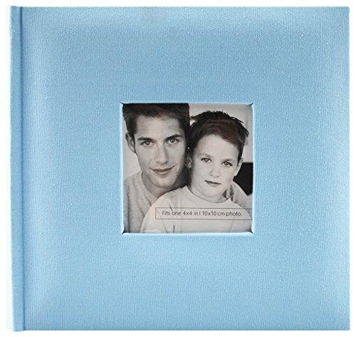 MCS Fashion Fabric 200 Pocket Album, Blue (846514)